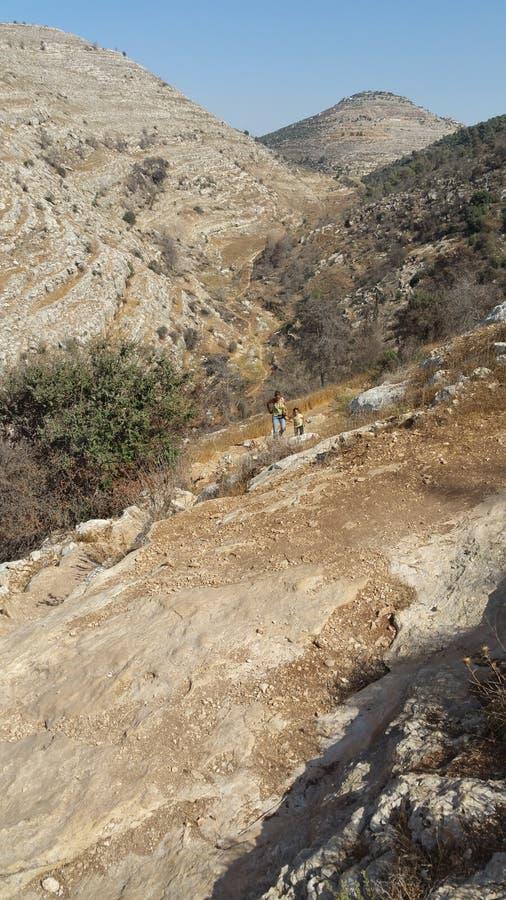 Le jour de montagnes de Jérusalem de battement photo libre de droits