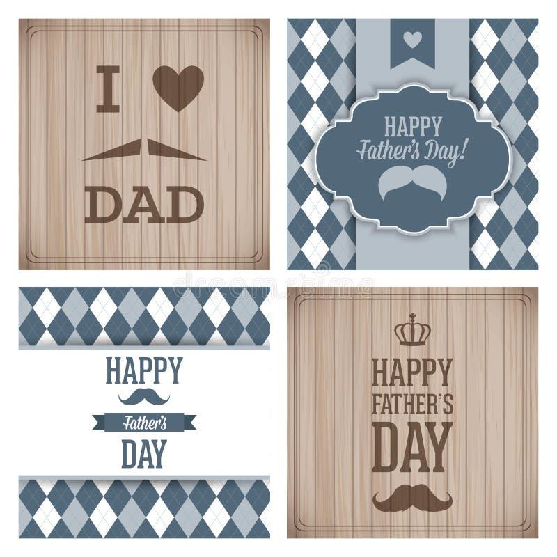 Le jour de père heureux illustration de vecteur
