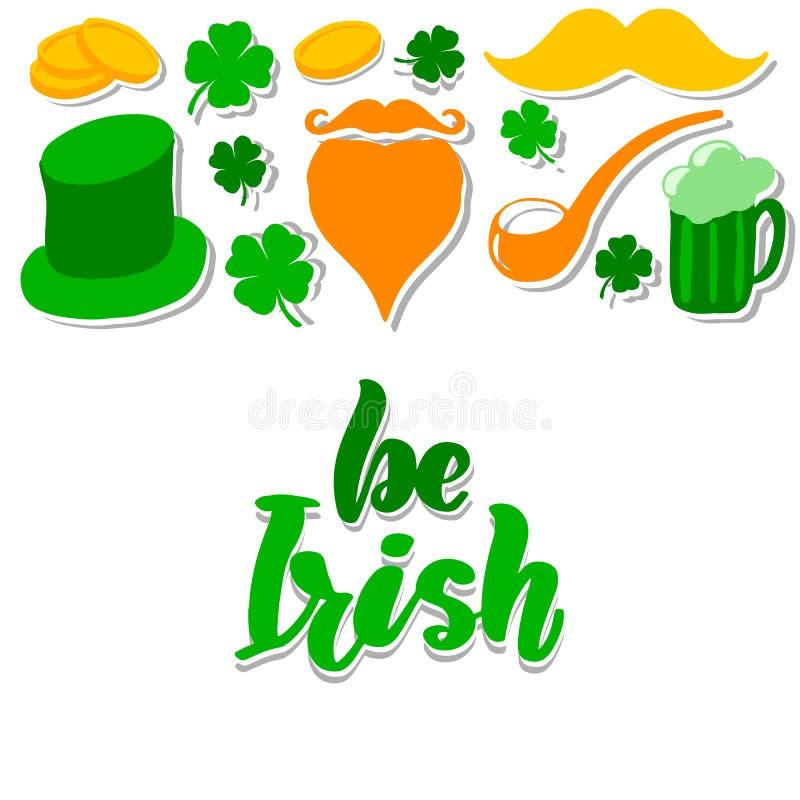 Le jour de St Patrick a placé avec illustration stock