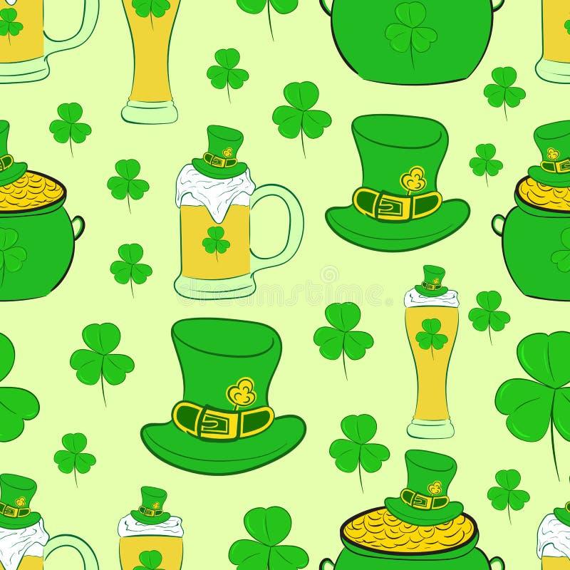Le jour de St Patrick sans couture de texture illustration de vecteur