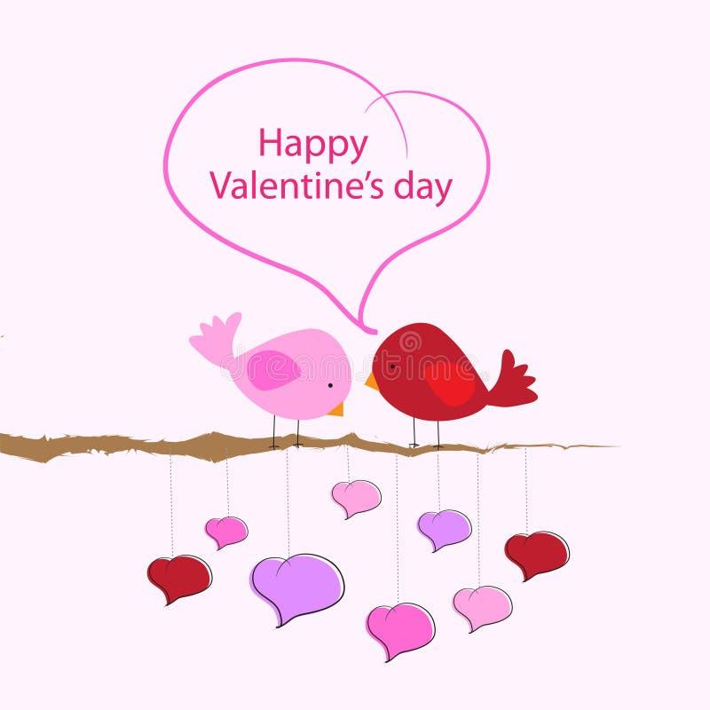 Le jour de valentine heureux illustration stock
