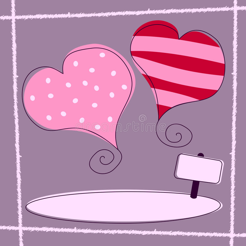 Le jour de Valentine [rétro 1] illustration de vecteur