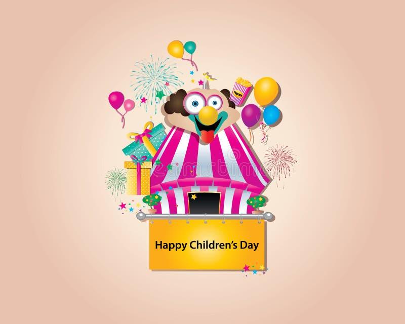 Le jour des enfants heureux illustration de vecteur