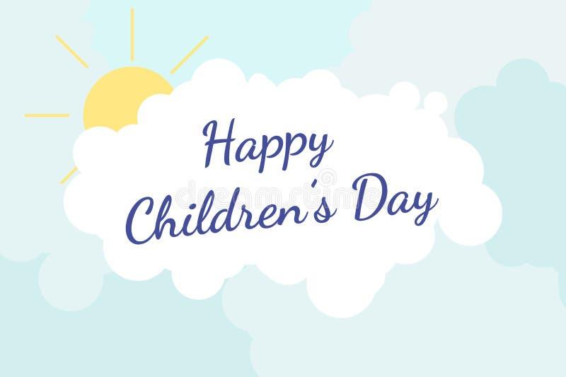 Le jour des enfants internationaux illustration stock