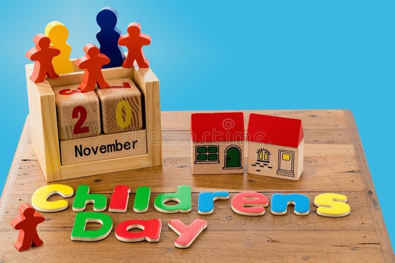 Le jour des enfants internationaux le 20 novembre photographie stock libre de droits