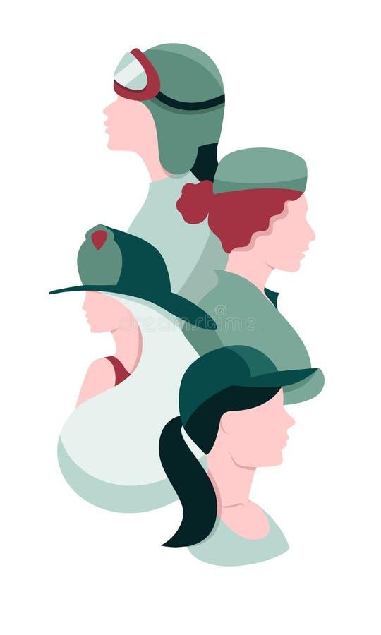 Le jour des femmes internationales pour le Web et l'impression illustration de vecteur