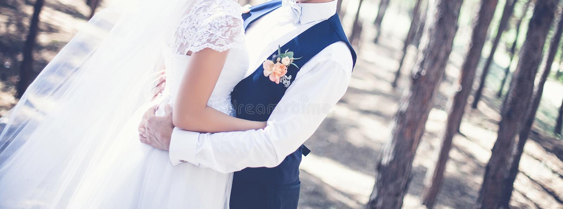 Le jour du mariage image libre de droits
