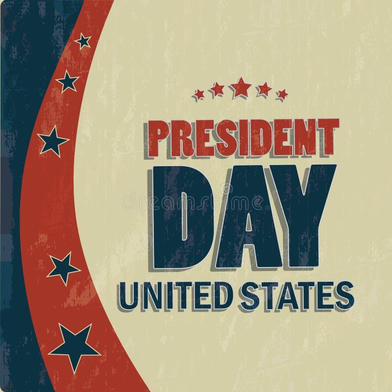 Le jour du président illustration stock