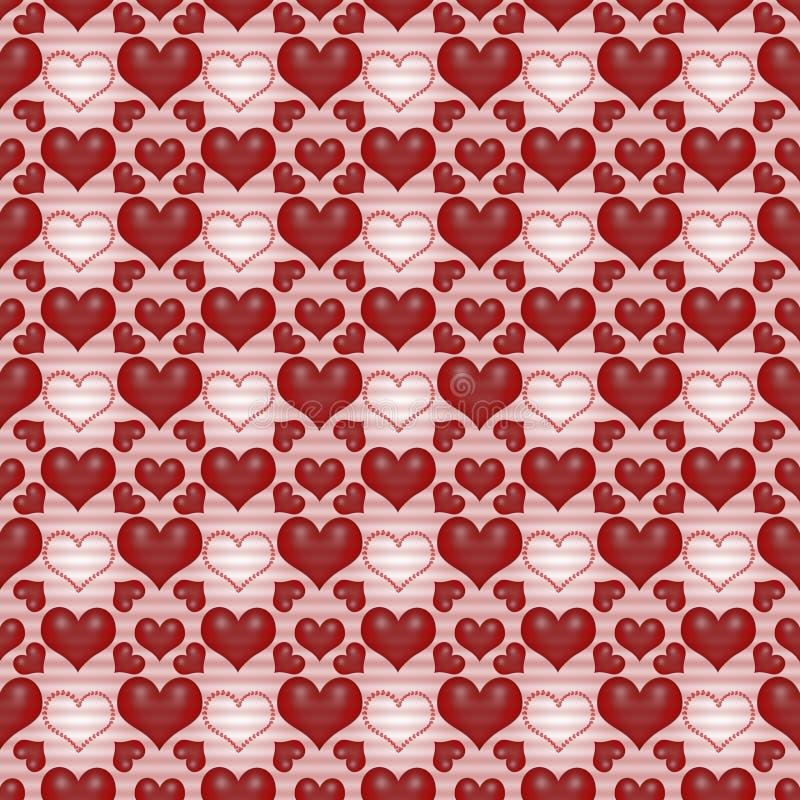 Le jour rouge de Valentine de fond sans joint photos libres de droits