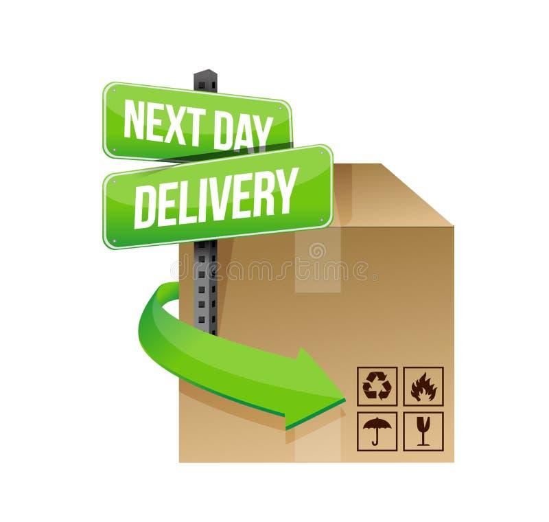 Le jour suivant conception d'illustration de la livraison illustration de vecteur