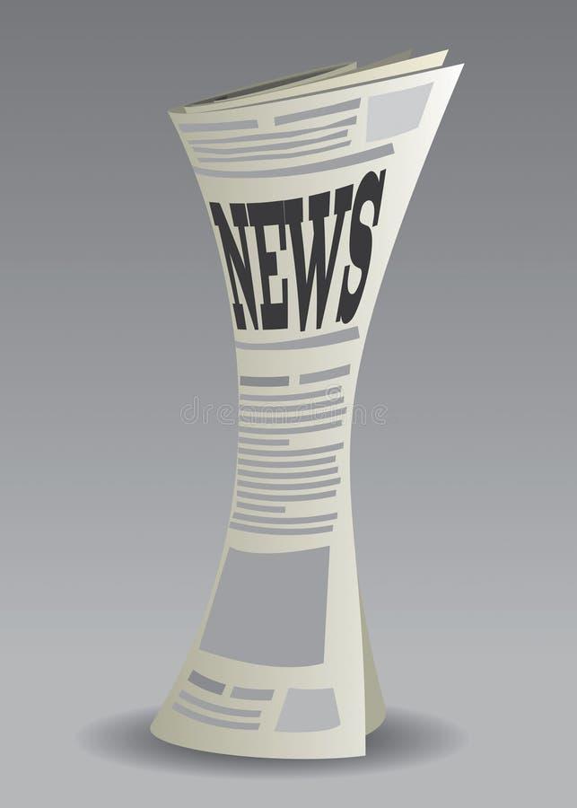 Le journal a placé 2 illustration stock