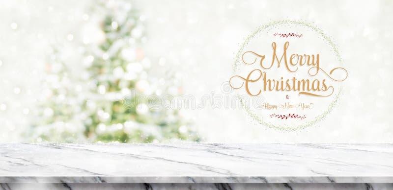Le Joyeux Noël et la bonne année tressent avec le te d'or de scintillement images libres de droits