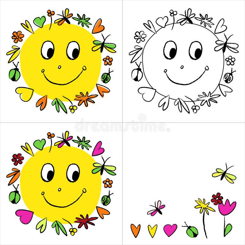 Download Le Joyeux Soleil D'illustration Illustration Stock - Illustration du image, positionnement: 8671640