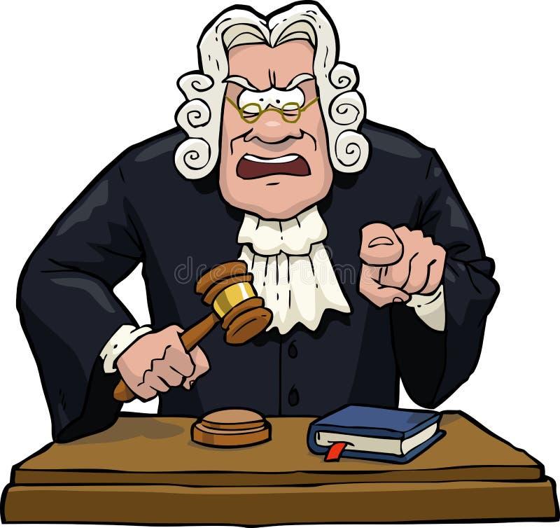 Le juge de bande dessinée accuse illustration stock