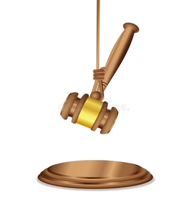 Le jugement en attente de décision illustration stock