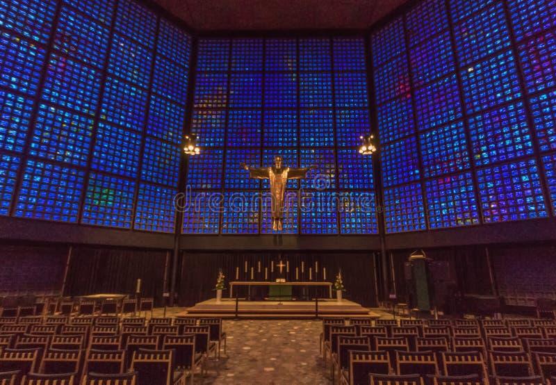 Le Kaiser Wilhelm Church de Berlin images libres de droits