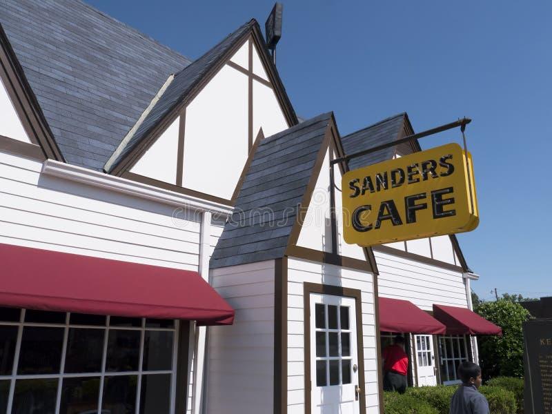 Le Kentucky original Fried Chicken Cafe en Corbin Kentucky Etats-Unis images libres de droits