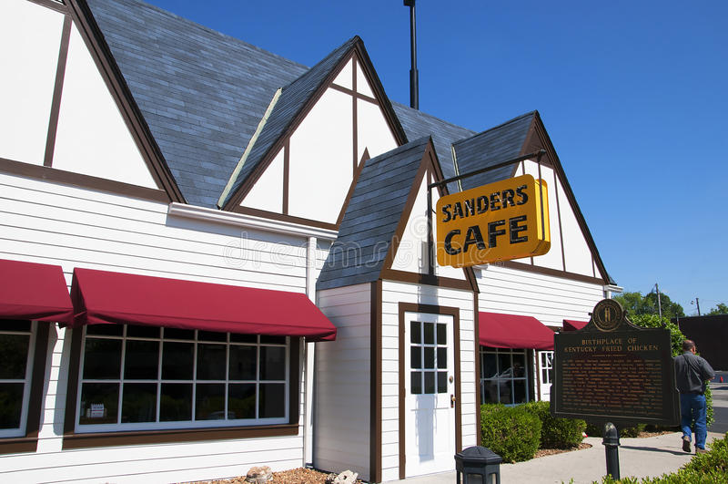 Le Kentucky original Fried Chicken Cafe en Corbin Kentucky Etats-Unis image stock