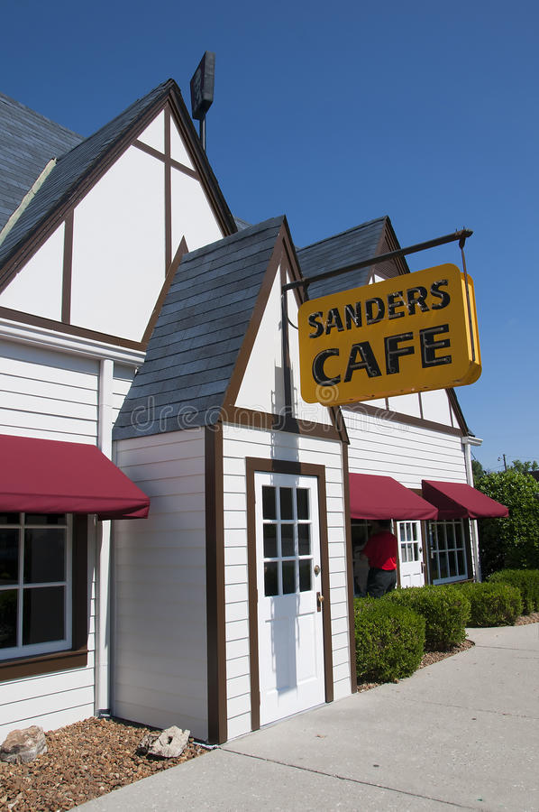 Le Kentucky original Fried Chicken Cafe en Corbin Kentucky Etats-Unis image libre de droits