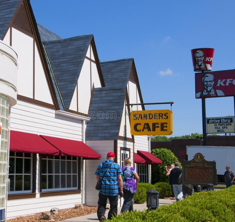 Le Kentucky original Fried Chicken Cafe en Corbin Kentucky Etats-Unis photos stock