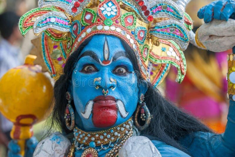 Le KERALA, INDE - janvier, 17 : Festival de temple de Pooram en janvier, photo stock