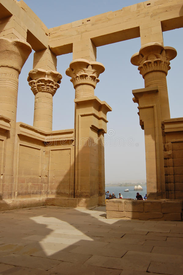 Le kiosque de Trajan dans le temple de Philae, Egypte photo stock