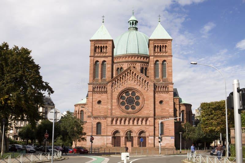 le kościół katolicki w Strasburg fotografia royalty free