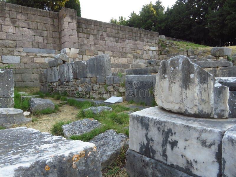 Le Kos Asklepion Ses origines sont tracées de nouveau à 400 AVANT JÉSUS CHRIST photo stock