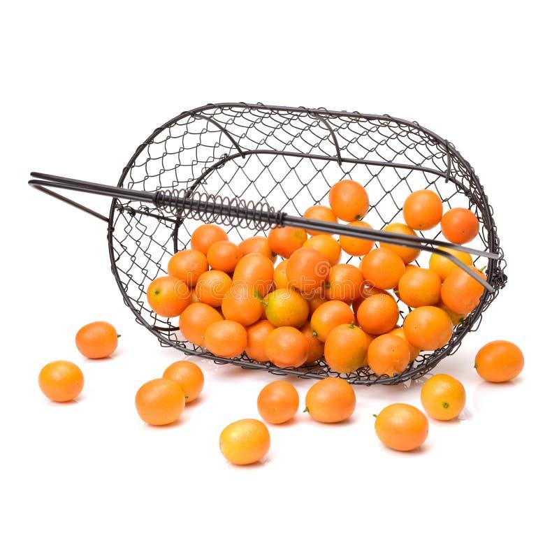 Le kumquat, le fruit a une peau externe douce et une chair intérieure au goût âpre photographie stock libre de droits