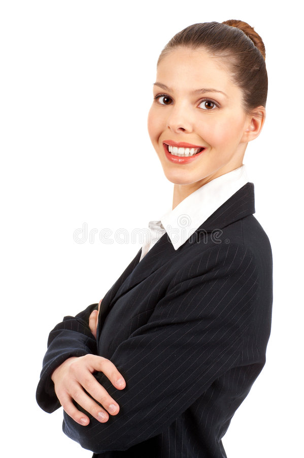 le kvinna för affär arkivfoto