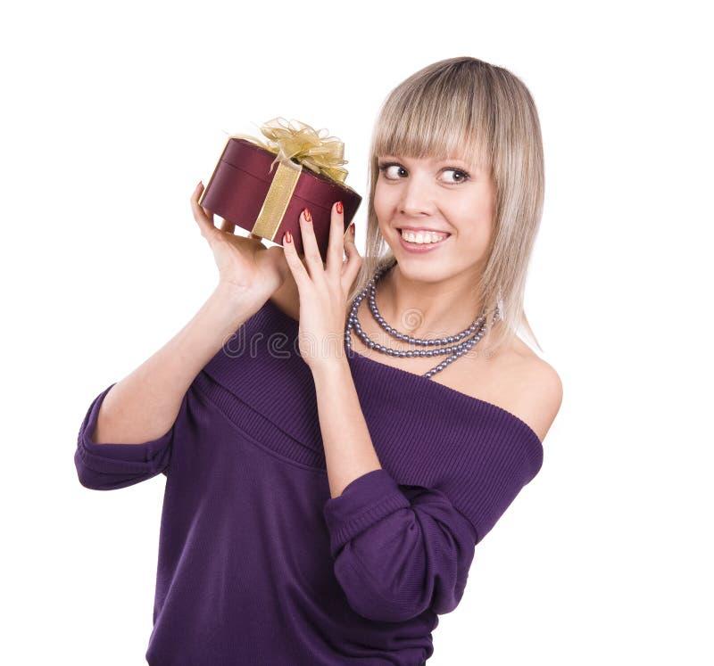 le kvinna för gåva fotografering för bildbyråer