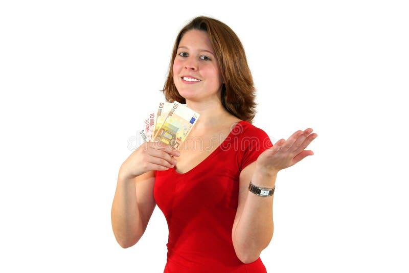 le kvinna för härlig billsaffärseuro royaltyfri bild
