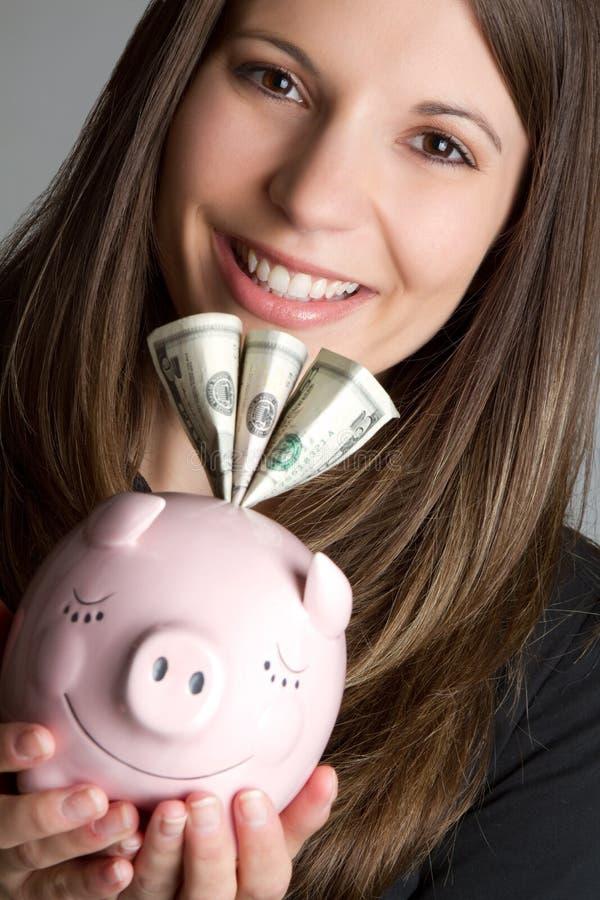 le kvinna för pengar royaltyfri fotografi