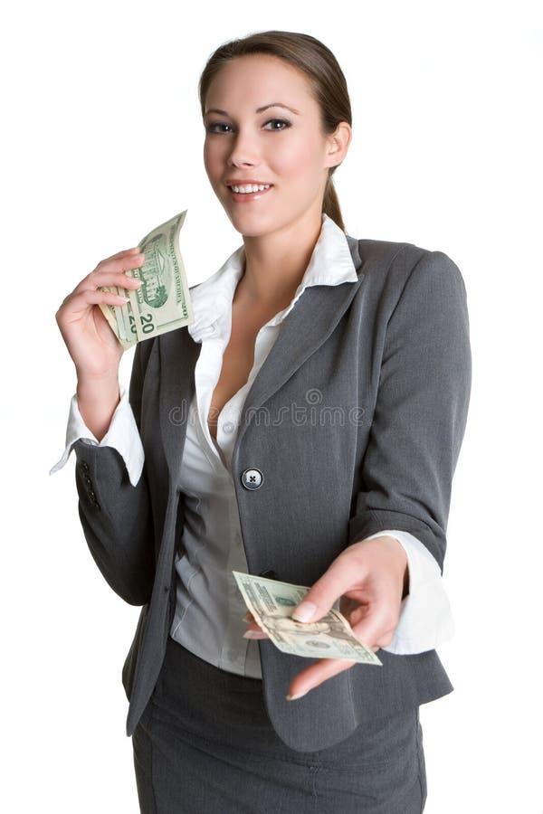 le kvinna för pengar royaltyfria bilder