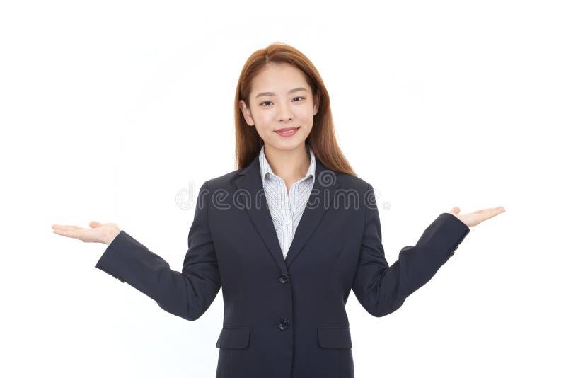 le kvinna f?r aff?r arkivfoton