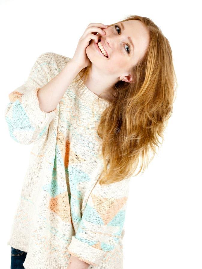 le kvinnabarn för lycklig stående fotografering för bildbyråer