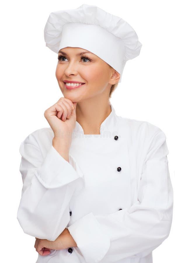 Le kvinnligt drömma för kock royaltyfri foto