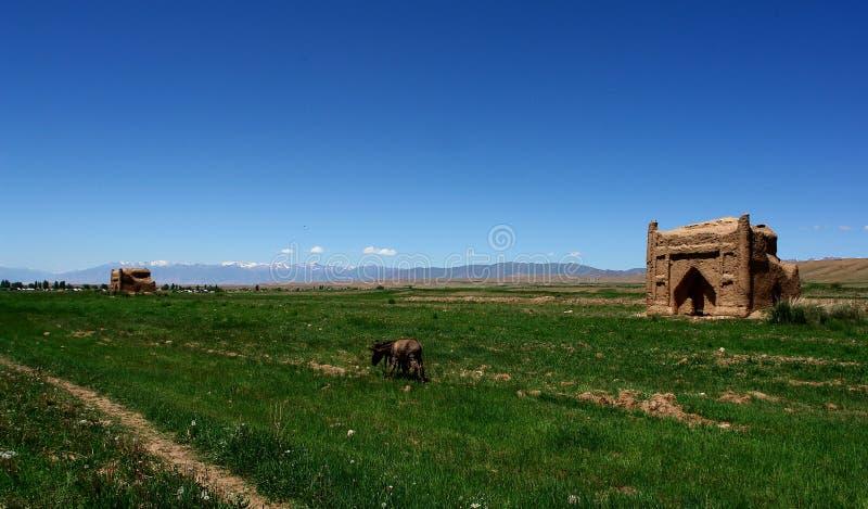 Le Kyrgyzstan Carvan Sarai photos libres de droits