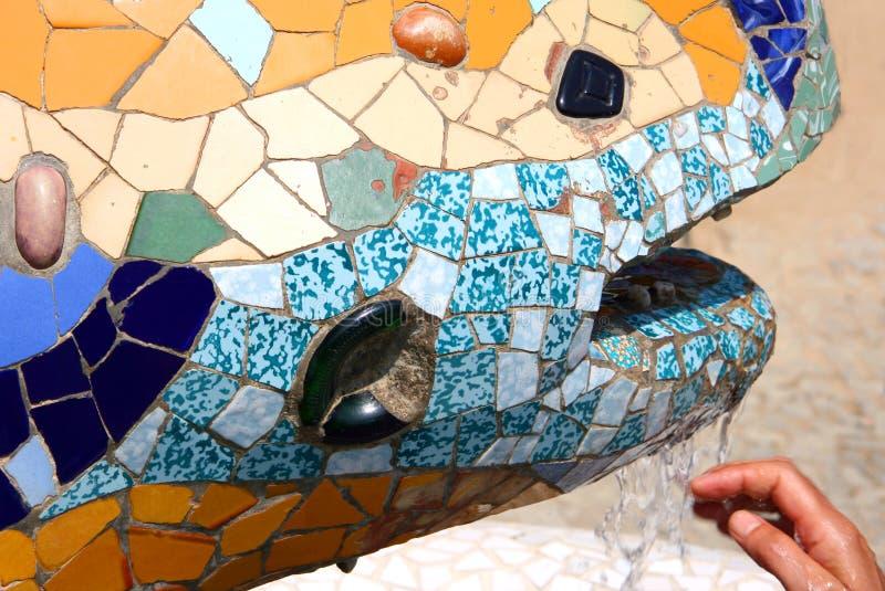 Le lézard de Gaudi - Barcelone image libre de droits