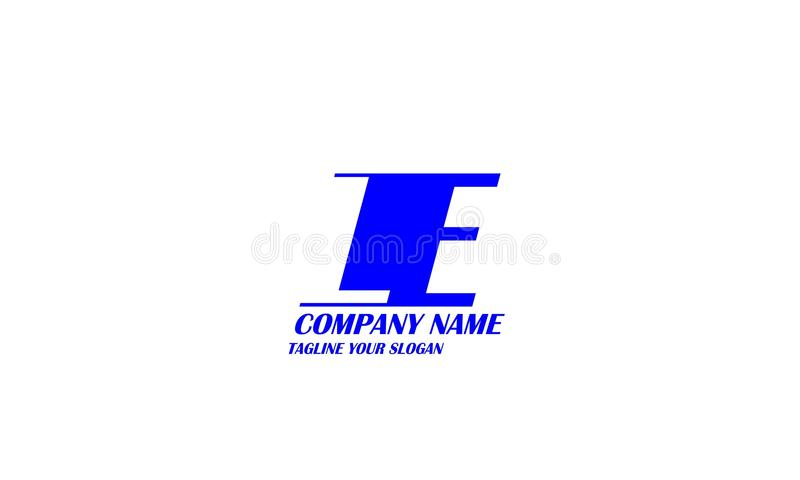 LE, L diseño del vector del logotipo de la letra de E stock de ilustración