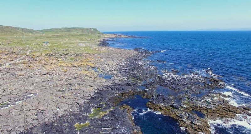 ?le l'Oc?an Atlantique Antrim Irlande du Nord de Rathlin photo libre de droits