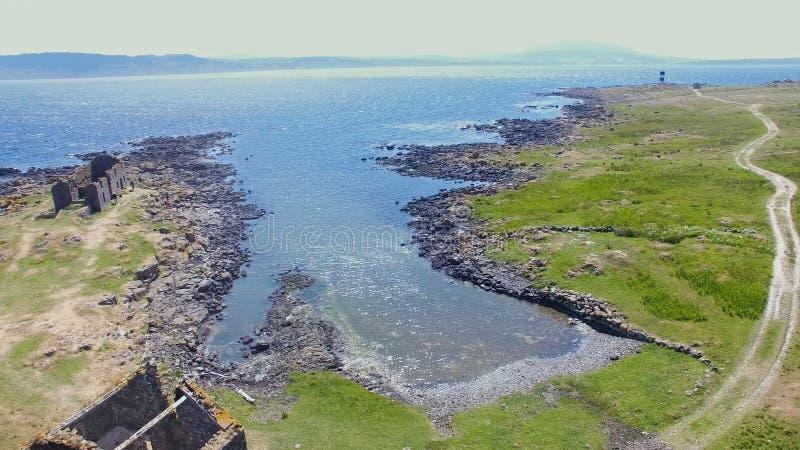 ?le l'Oc?an Atlantique Antrim Irlande du Nord de Rathlin image libre de droits