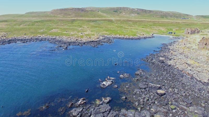 ?le l'Oc?an Atlantique Antrim Irlande du Nord de Rathlin photographie stock libre de droits