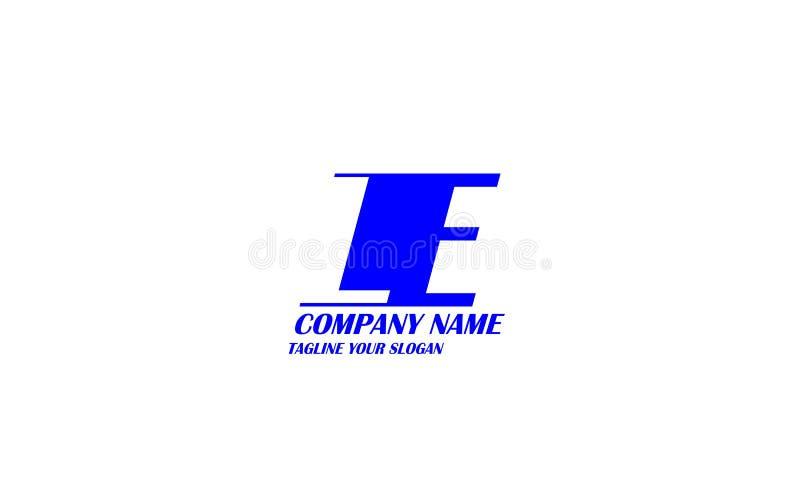 LE, L progettazione di vettore di logo della lettera di E illustrazione di stock