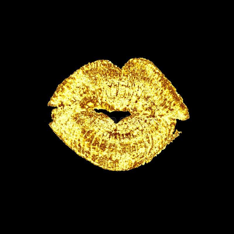 Le labbra baciano, isolato su fondo bianco illustrazione di stock