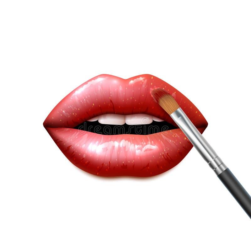Le labbra compongono royalty illustrazione gratis