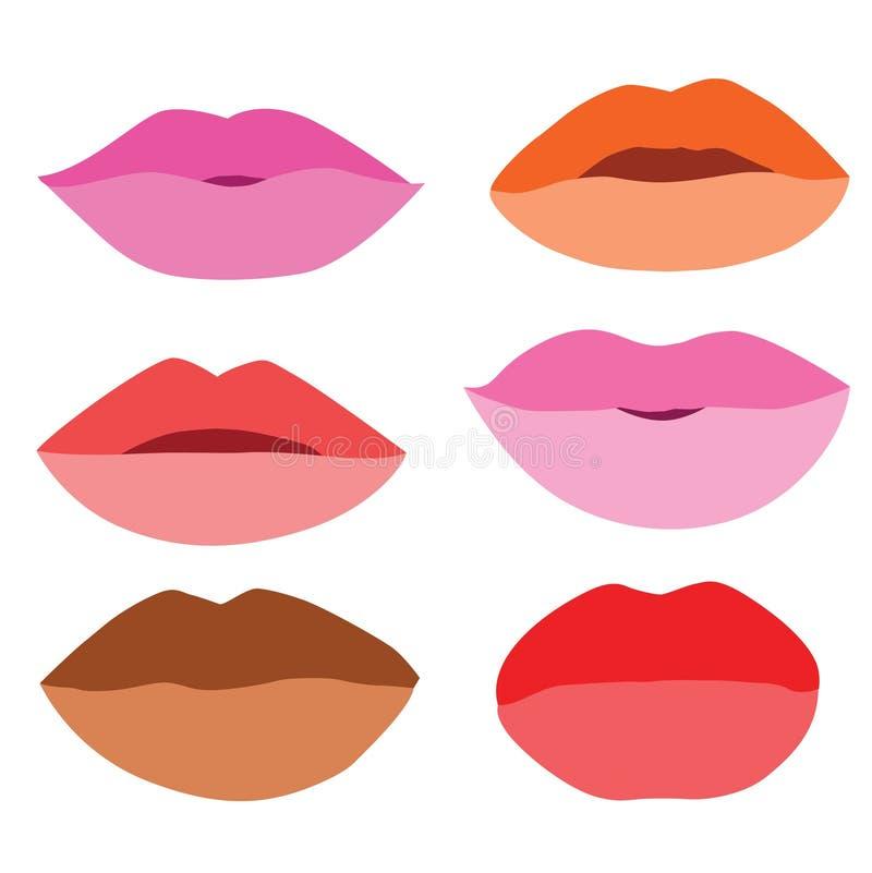 le labbra della bocca si chiudono su progettazione royalty illustrazione gratis