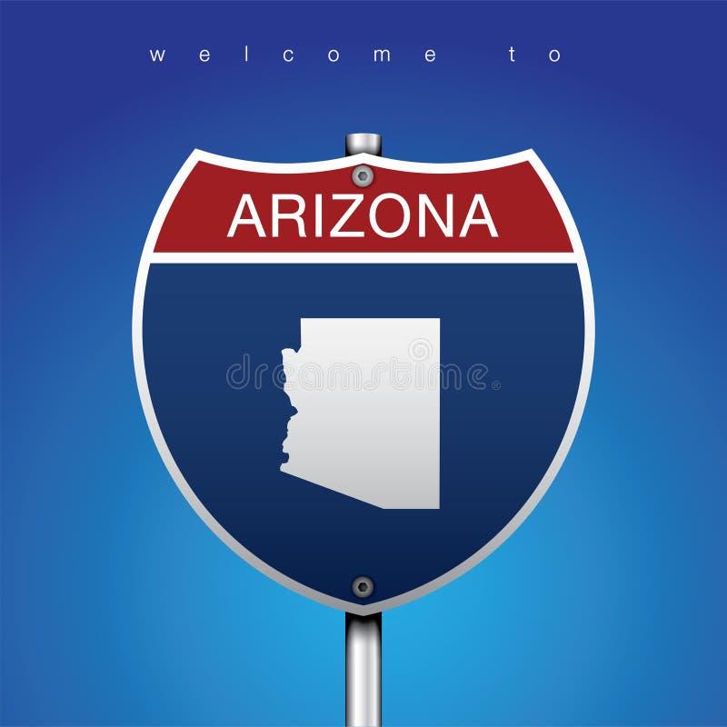 Le label de ville et la carte des Etats-Unis dans le style américain de signes illustration stock