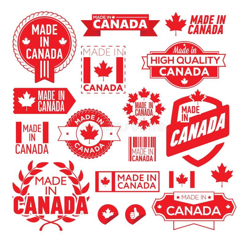 Le label a fait le ‹d'†de ‹d'†dans le Canada illustration libre de droits
