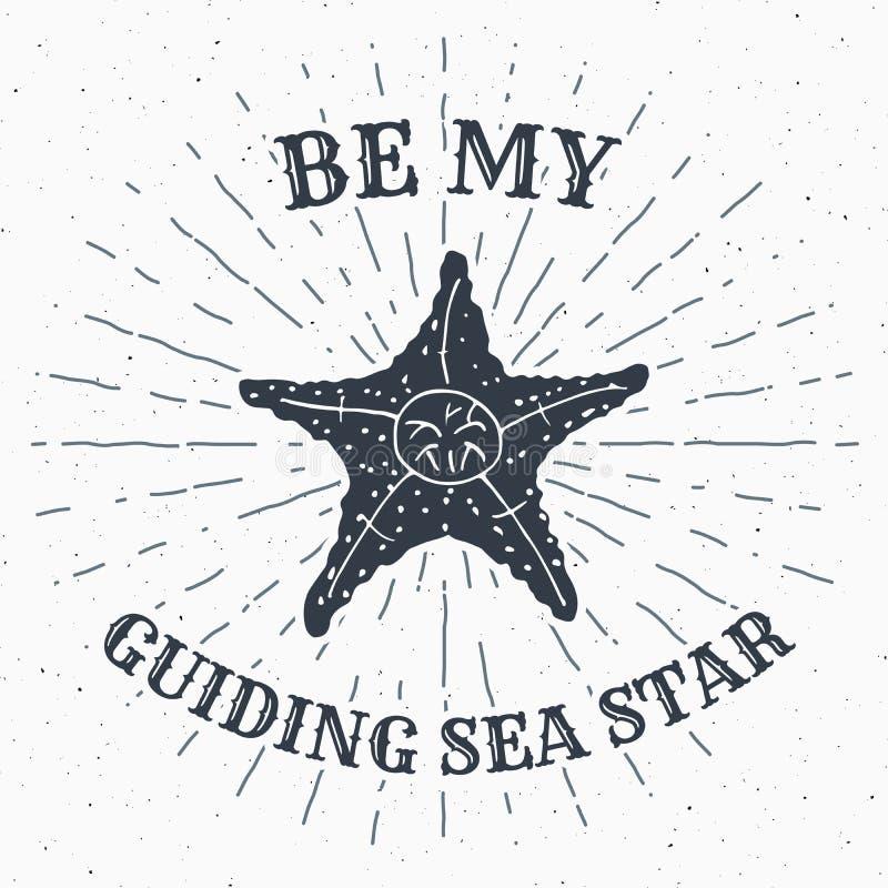 Le label grunge texturisé tiré par la main de vintage, le rétro insigne ou conception de la typographie de T-shirt avec des étoil illustration de vecteur